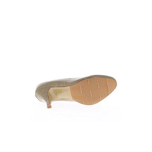 Escarpins taupes à talons de 8,5cm