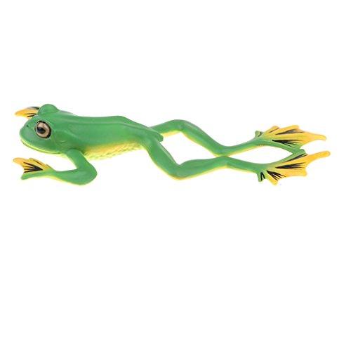 Perfk 15色選択 人気動物 フィギュア リアル動物モデル 子供 科学自然 教育おもちゃシ ミュレーション - 木のカエルの商品画像