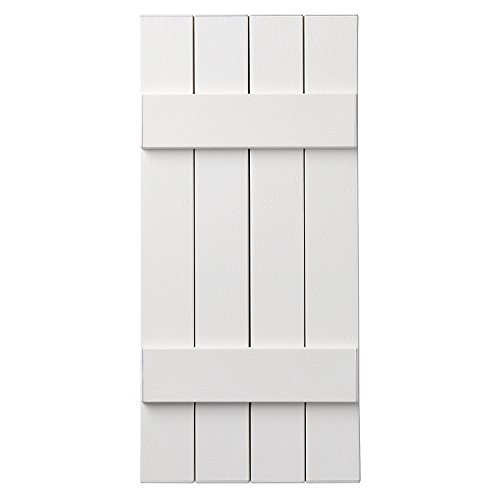 Ply Gem Shutters and Accents VIN4C1539 11 4 Closed Board and Batten, White by Ply Gem Shutters and Accents