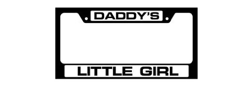 Knockout 4014 Daddys Little Girl License Plate Frame