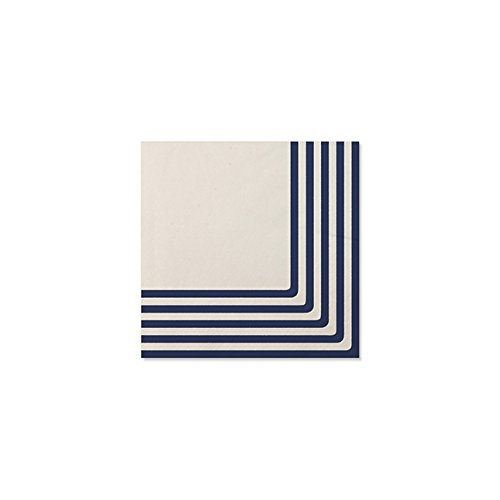 Sophistiplate 07Jy3 Classic Disposable 3-Ply Paper Luncheon Napkins, Navy (Pack of -