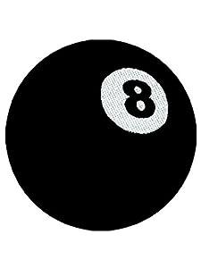 Aufnäher Billiardkugel 8