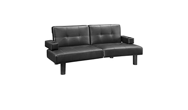 Amazon.com: Futon Bed Couch- with Comfortable Support-Faux ...