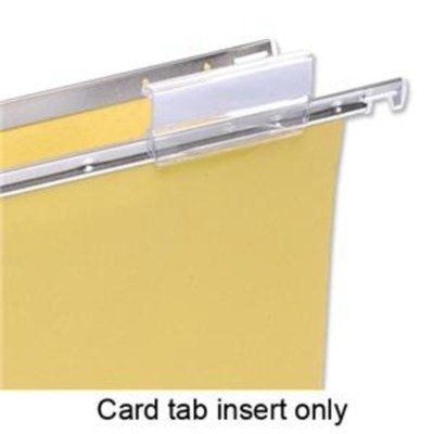 5 Star Card Inserts for Suspension File Tabs White [Pack 50] Suspension Tab