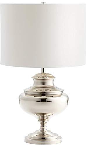 Cyan Design Table Lamp Encore 1-Light Nickel White Shade Lining Gold Leaf