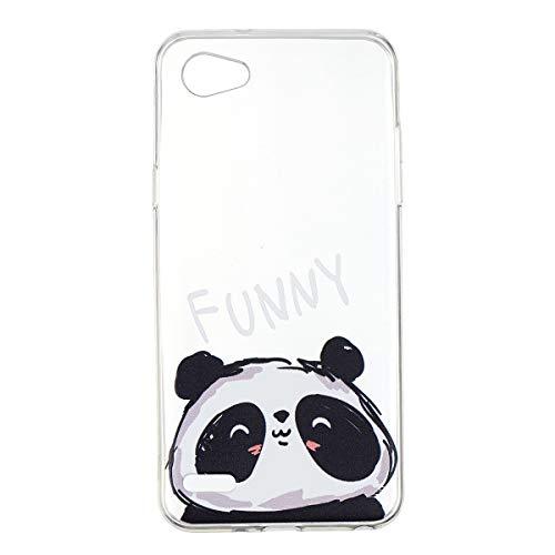 Yoodi Funda LG Q6, Carcasa Ultra Fina Silicona TPU Gel Case para LG Q6 5.5 Inch Cover Flexible de Protección - Panda