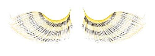 [Zinkcolor Black Yellow Bee Stripes False Synthetic Eyelashes E665 Dance Halloween Costume] (Bee Costume Makeup)