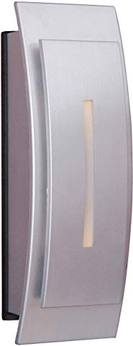- Craftmade TB1020-BN Contemporary Curved Lighted Doorbell LED Touch Button, Brushed Nickel (5