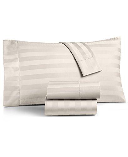 Charter Club Damask Stripe King 4-Pc Sheet Set, 550 Thread Count Pure Supima Cotton (Ivory)