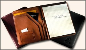 Leather Writing Pad Holder (Black) by Unknown