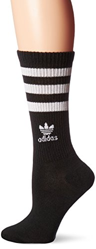 (adidas Women's Originals Roller Crew Socks (1-Pack), Black/White,)