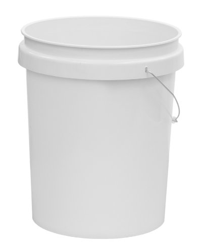 United Solutions PN0020 White Five Gallon Plastic Industrial Pail - 5 Gallon Plastic Bucket for Industrial in White