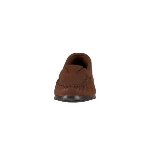Minnetonka Women's Deerskin Gore Front Moccasin Tan-caramel free shipping 2014 new collections cheap online A3z8Baxd
