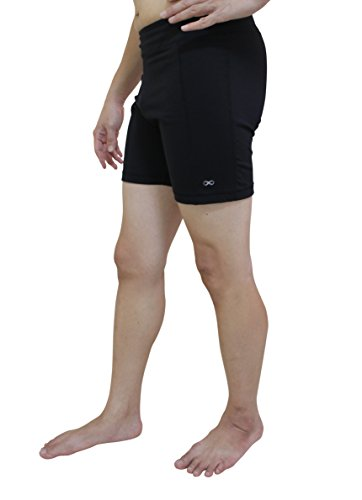 YogaAddict Men Yoga Stretchable Short Pant, Ideal for Any Yoga Style and Pilates, Premium Quality, Black - Size S
