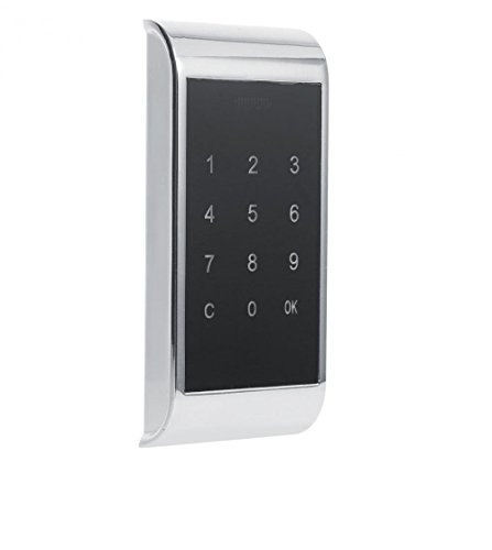 Lock Digital Electronic Security Coded For Locker Touch Keypad Password Key Access Cabinet Door Lock Drawer Combination (Silver)