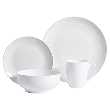 Gibson Home 16 Piece Ogalla Dinnerware Set, White
