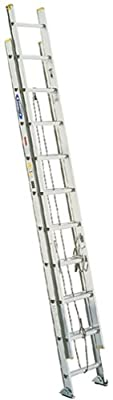 Werner 225-Pound Duty Rating Aluminum Flat D-Rung Extension Ladder