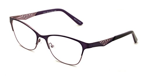 Women Fashion Stainless Steel Non-prescription Glasses Frame Clear Lens Metal Eyeglasses - Wide Fitment - Stainless Steel Eyeglass Frames
