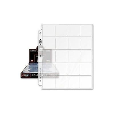 (25) BCW 20 Pocket Coin 2x2 2 x 2 Album Binder Pages!