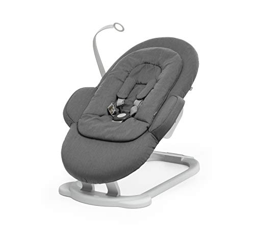Stokke Steps Deep Grey Portable Baby Bouncer with Multiple Seating Positions