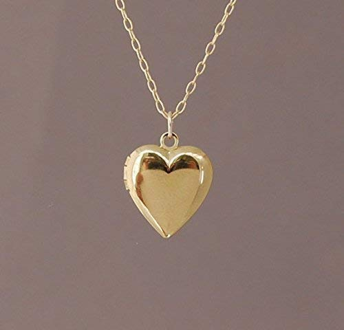 Small Gold Filled Heart Locket Necklace also in Sterling Silver and Rose Gold ()