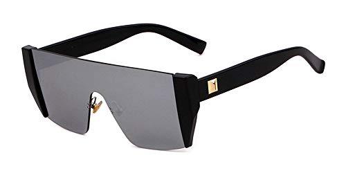 Gafas para Gafas KOMNY cristalino sin Hombre Corte Sol Marrón cuadradas de de Gris Marca Gafas Sol de Montura D C gradiente Mujeres HxqWwrq06X