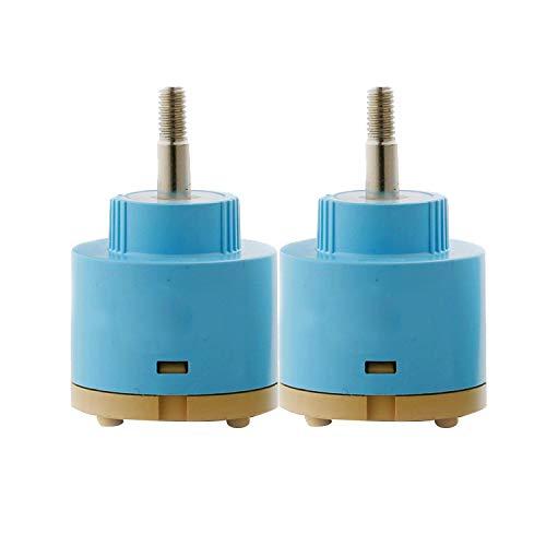 Wovier Replacement Single Handle Faucet 360 Degree Rotate Cartridge Ceramic Disc Valve 35mm Diameter (2 Pcs) by Wovier