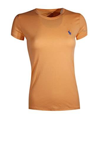 Ralph Lauren Sport Women's Lightweight Crew-Neck T-Shirt 2016 Model (X-Small, Orange (Blue ()
