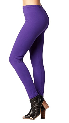 Conceited Premium Ultra Soft Leggings High Waist - Regular and Plus Size - 15 Colors by Small/Medium (0-12), Purple
