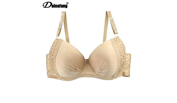 Amazon.com: GuiZhen DAINAFANG Plus Size Women Lingerie Push Up Lace Bra Large Ladies for Deep Underwear V Luxury Brasilia 44-50 D DD E: Garden & Outdoor