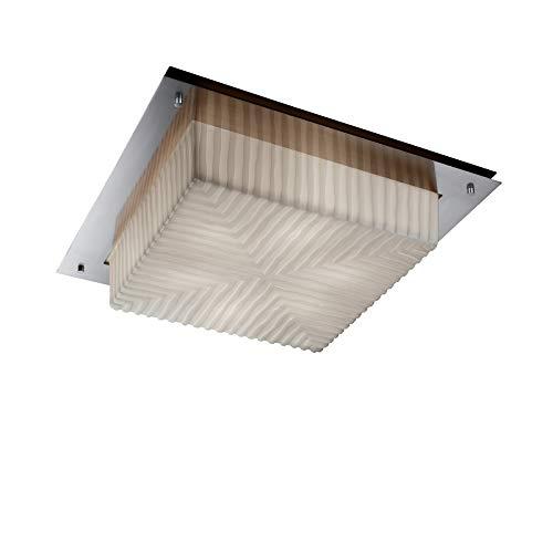 (Justice Design Group Lighting PNA-5567-WFAL-NCKL-LED3-3000 Porcelina - Framed 16