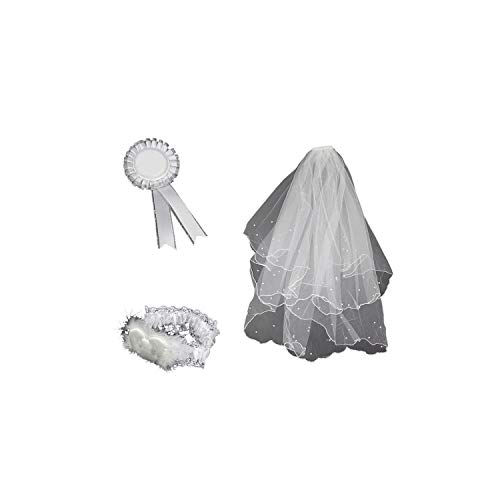 meet-you-Veil,4 Pcs Bride To Be Theme Decoration Set Satin Sash Badge Garter And Veil With Comb For Wedding S