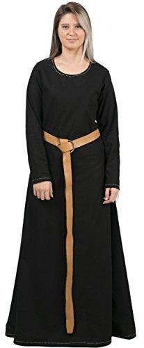 byCalvina - Calvina Costumes Lena Medieval Viking Renaissance Cotton Women Underdress - Made in Turkey, S-Black]()