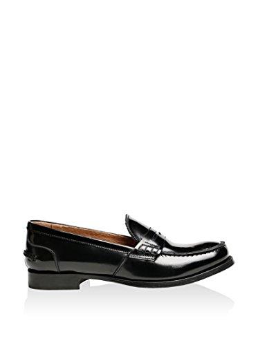 British Passport-Plain black loafer-Femme