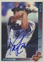 Tom Evans Syracuse Skychiefs - Blue Jays Affiliate 1998 Grandstand Autographed Card - Minor League Card. This item comes with a certificate of authenticity from Autograph-Sports. Autographed