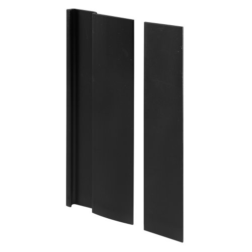 Prime-Line Products C 1063 Door Cover Plate and Pull, Black Finish (Cabinet Line Prime Handles)