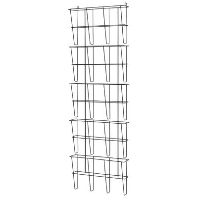Buddy Products Wire Ware 5 Pocket Literature Rack, Letter...