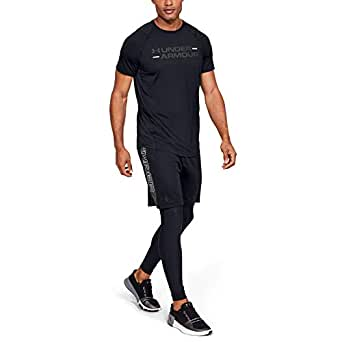 Under Armour Men's MK1 SS Wordmark TEES AND T-SHIRTS, Grey (Black/jet Gray), Large