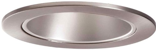 HALO Recessed 999SN 4-Inch Trim Reflector Cone Trim with Satin Nickel Reflector, Satin Nickel