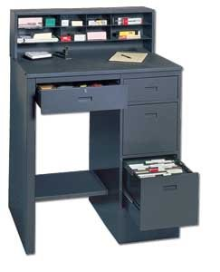 Edsal 660 Steel Deluxe Shop Desk, Easy to Assemble, 39
