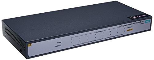 Switch HPE Aruba 1420 8p Giga PoE+ (64W) - JH330A, Hpe Aruba, Switches de Rede