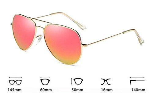 Keephen classique Or de mode soleil cadre Rose lunettes en Barbie apparence rétro Aviator Style UV400 métal rOEq8xrR