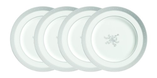 Vera Wang by Wedgwood 20th Anniversary Vera Lace Soiree Plates, Set of 4 (Vera Wang Platinum Lace compare prices)