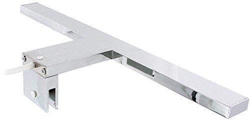 Spiegelklemmleuchte Bad led aluminium spiegelleuchte aufsatzleuchte ip44 badleuchte 230v