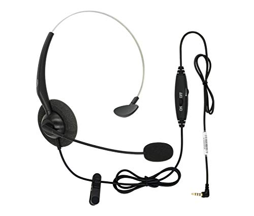 - DailyHeadset 3.5 mm Jack Hands Free Cell Phone Headset On Ear Headphones with Microphone Mute & Volume Control On Cord