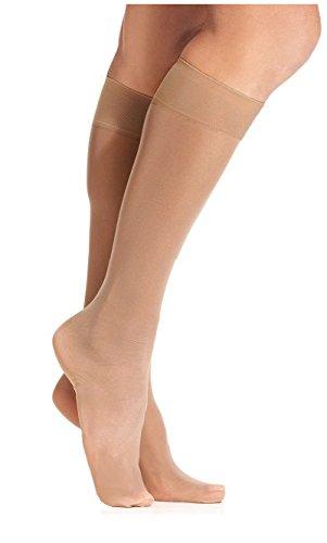 Hue Sheer Knee-hi 2pk (Bare) (Sheer Womens Hue)