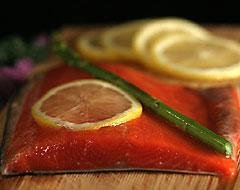 Each Fillet Individually Vacuum - 10 Pounds Fresh Sockeye Salmon Fillets