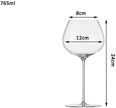 YUN&DSC Red Copas de Vino Vidrio del Vino Blanco de Borgoña - Burdeos - Champagne Elegante sin Plomo en Caja de Regalo (Color : Clear, Size : Burgundy 765ml)