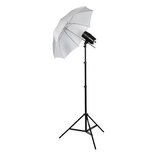 CowboyStudio Single 110 Watt Photo Studio Monolight Flash Strobe Umbrella Lighting Kit - 1 Studio Flash/Strobe, 1 Soft Umbrella