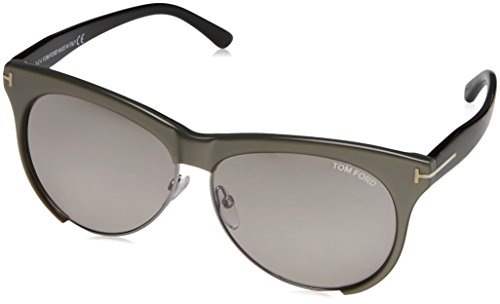 Tom Ford Women's Leona Sunglasses, Mirrored Brown Lens with Bronze - Ford Hat Tom